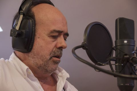 Grabación con Iñaki Auzmendi en Binario estudio del disco Momentos