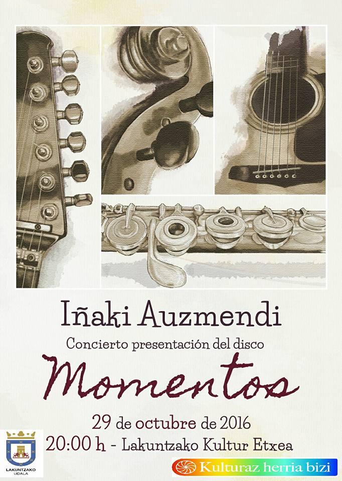 Cartel de presentación en Lakuntza